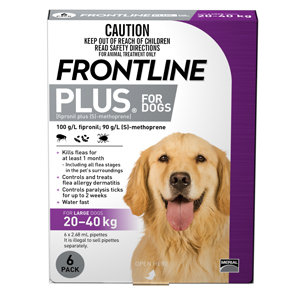 FRONTLINE PLUS DOG PURPLE 6PACK 20-40KG