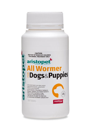 ARISTOPET DOG SMALL PUPPY ALLWORMER 100S