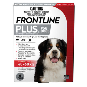 FRONTLINE PLUS DOG RED 6PACK 40+