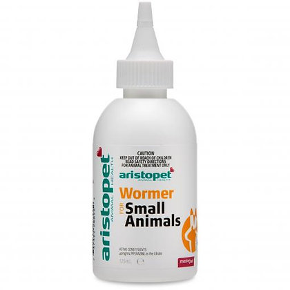 ARISTOPET SMALL ANIMAL WORMER 125ML