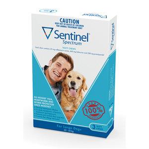 SENTINEL SPEC CHEW BLUE 3 PACK 22-45KG