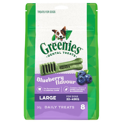 GREENIES BLUEBERRY LARGE 340G