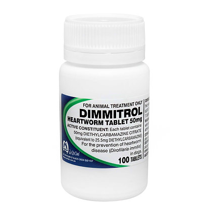 DIMMITROL TABS 50MG 100'S *vet clearance may be required*