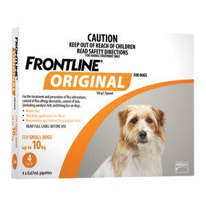 FRONTLINE ORIGINAL SMALL DOG 4pack 0-10KG