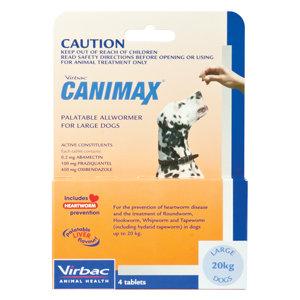 CANIMAX DOG LGE 20KG 4'S