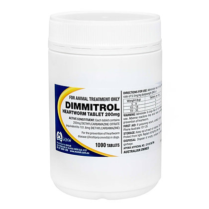 DIMMITROL TABS 200MG 1000'S *vet clearance may be required*