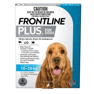 FRONTLINE PLUS DOG BLUE 6pack 10-20KG