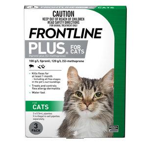 FRONTLINE PLUS CAT GREEN 3pack