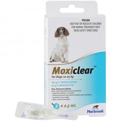MOXICLEAR MEDIUM DOG TEAL 6 PACK 10-25KG