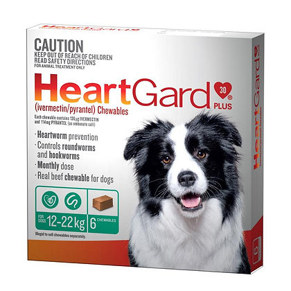 HEARTGARD PLUS GREEN 12pack  12-22KG
