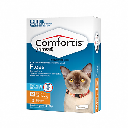 COMFORTIS CAT 270MG ORANGE 3pack CAT 2.8-5.4KG TABS