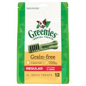 GREENIES GRAIN FREE REGULAR 12 TREATS