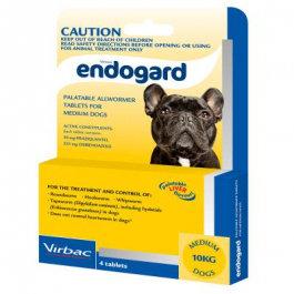 ENDOGARD DOG TABS 10KG 250'S