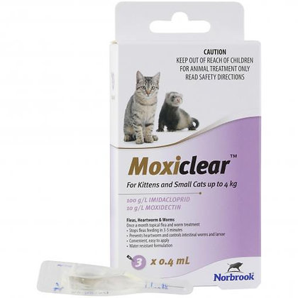 MOXICLEAR SML CAT PURPLE 3PACK KITTEN UP TO 4KG