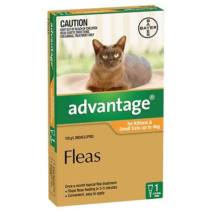 ADVANTAGE CAT 0-4KG ORANGE 1 PACK