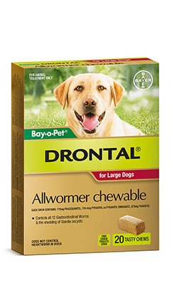 DRONTAL BAYOPET CHEWS 35KG LARGE 20PACK
