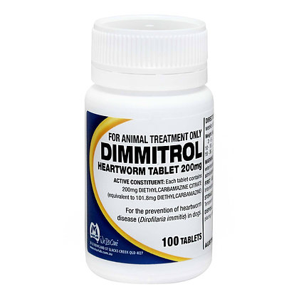 DIMMITROL TABS 200MG 100'S *vet clearance may be required*