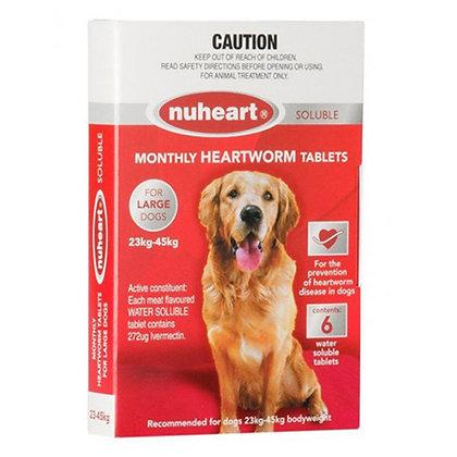 NUHEART HEARTWORM TABS LARGE 6PACK 23-45KG