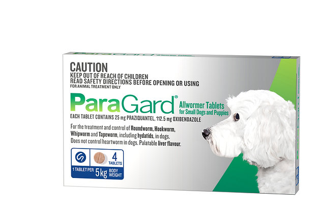 PARAGARD SMALL DOG  4pack UP TO 5KG