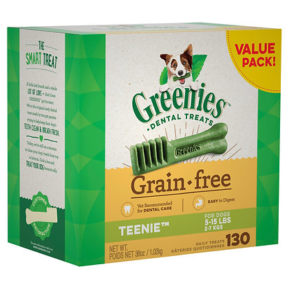 GREENIES GRAIN FREE REGULAR 130 1KG