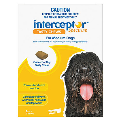 INTERCEPTOR SPECTRUM YELLOW CHEW 3PACK 11-22KG