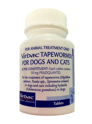 VIRBAC TAPEWORMER DOGS  CATS 250 tablets