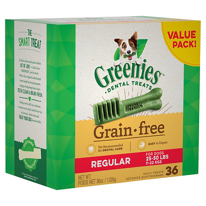 GREENIES GRAIN FREE REGULAR 36'S 1KG