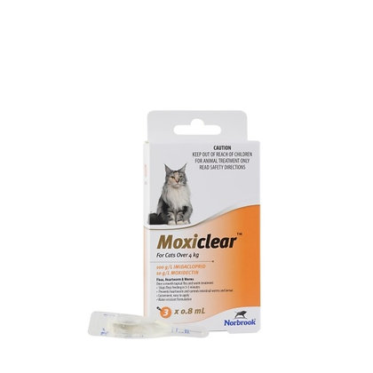 MOXICLEAR LARGE CAT ORANGE 3 PACK OVER 4KG