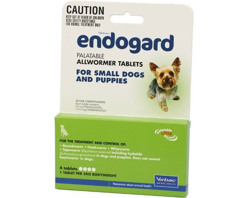 ENDOGARD DOG TABS 5KG 100 pack