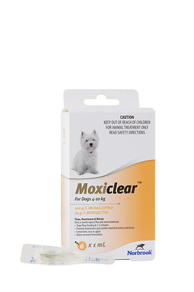 MOXICLEAR SMALL DOG APRICOT 6pack 4-10KG