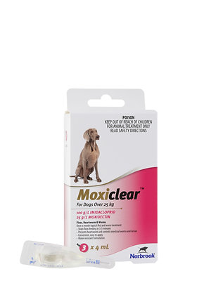 MOXICLEAR LARGE DOG PINK 3 PACK  25KG+