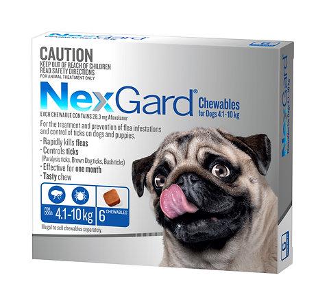 NEXGARD CHEWS MEDIUM BLUE 6pack 4.1-10KG