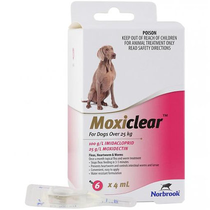 MOXICLEAR LARGE DOG PINK 6 PACK  25KG+