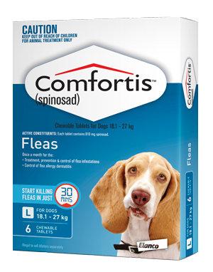 COMFORTIS TABS 18.1-27KG 6pack