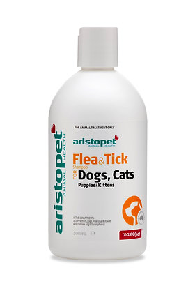 ARISTOPET DOG FLEA & TICK SHAMPOO 500ML
