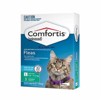 COMFORTIS CAT 560MG GREEN 3pack   5.5-11.2KG