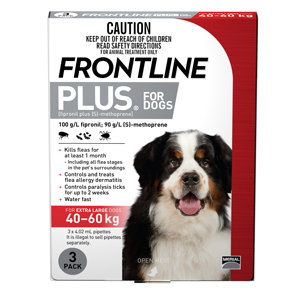 FRONTLINE PLUS DOG RED 3PACK 40+