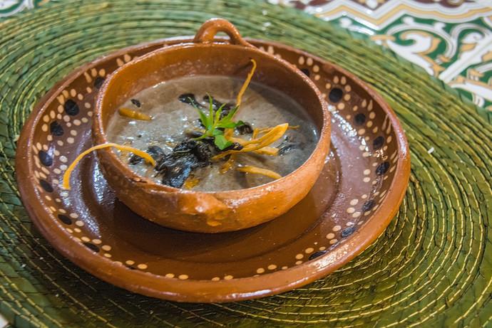 Huitlacoche soup