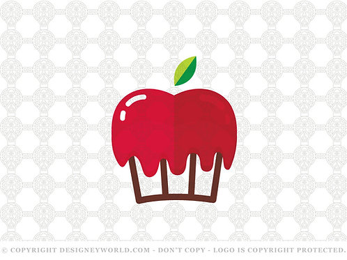 Apple Cupcake Logo