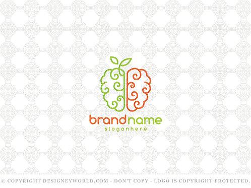 Brain Apple Logo
