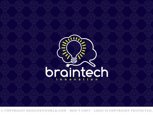 Brain Tech Innovation Logo