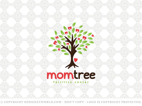 Mother And Baby Care Tree Logo