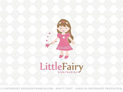 Little Fairy Kids Fashion Logo
