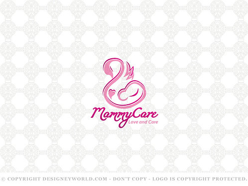 Mammy Care Mother and Baby Swan Logo