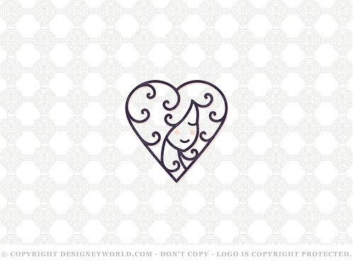 Love Curly Hair Logo