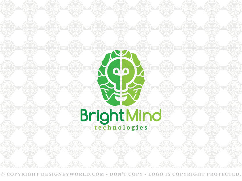 Bright Mind Logo Design for Sale + Free Customization