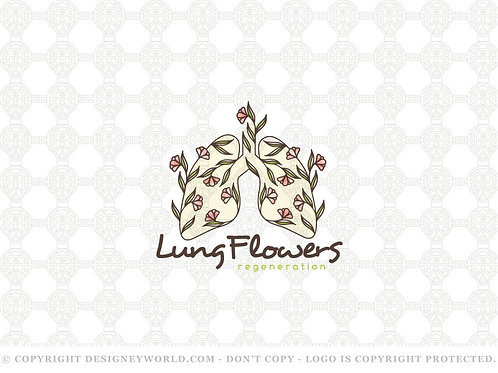 Lungs Flowers Tree Logo