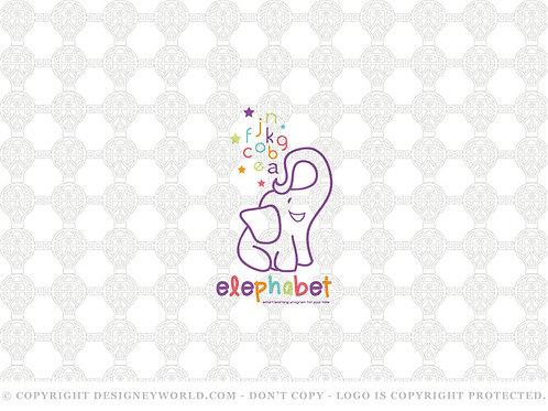 Elephabet Elephant Alphabet Logo