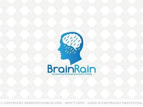 Brain Rain Brainstorming Logo