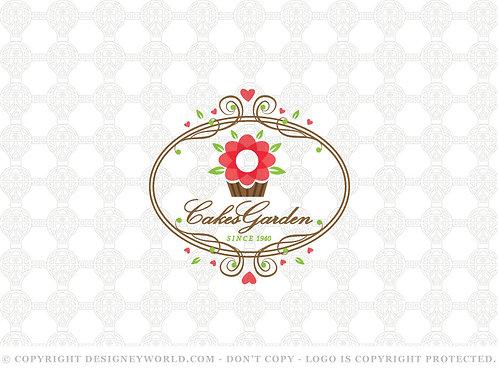 Cupcakes Garden Logo